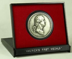 U.s. Mint America's First Medals Washington Before Boston 38 Mm Pewter