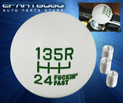 For Nissan Mt Manual M8 M10 M12 Adapter Set Round Ball Shift Knob 6-speed Green