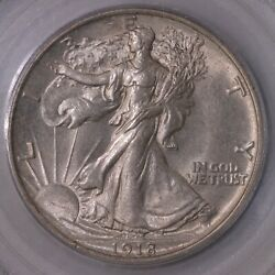 1918 Walking Liberty 50c Pcgs Certified Ms63 Mint State Graded Us Silver Coin