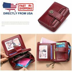 RFID Women Genuine Leather Long Hollow Out Wallet Money Card Holder Clutch Purse $12.59