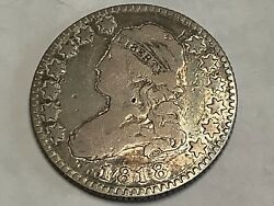 1818/5. Capped Bust Quarter 89 Silver 11 Copper Free Shipping