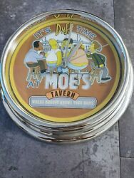 Simpsons Wall Clock It's Duff Time At Moe's Tested Works