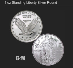 1roll20standing Liberty Design 1 Oz .999 Silver Round Bullion Collector Coin
