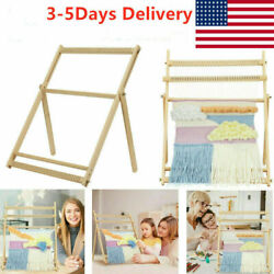 Weaving Loom Kit With Stand Wooden Looming Set Tapestry LoomKnitting Machine