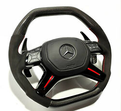 Mb W463 G Gle Glc Gls W292 Steering Wheel Carbon Red Black Paddle Shifts