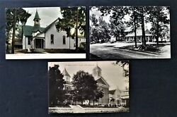 Antique Lot Of 3 Postcard West Grove Pa Red Rose Inn St Mary's Church Presbytery