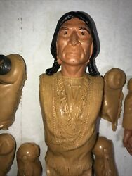 Vintage Marx Johnny West Chief Cherokee Parts With Spring