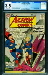 Action 252 Cgc 3.5 First Supergirl Key Issue-dc Silver-age Superman 2112813001