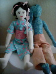 Geisha And Mobster Couple Dolls Bathhouse Japanese-style Forever Cherry Blossoms