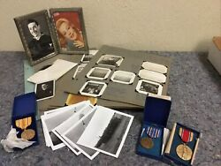 Lot Of Us Navy Seabees Photos And Medals-wwii To Korea-alaska