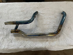 Harley-davidson Fatboy Exhaust Pipe 65600042 Softail Good Condition Free Ship