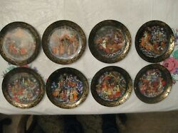 Complete Serie 8 Russian Fairy Tales Plates Andldquothe Legend Of Father Christmasandrdquo 95