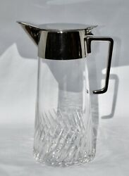 Quality Silver Plate And Crystal Claret Jug / Wine Pitcher / Water Jug - 1.2l