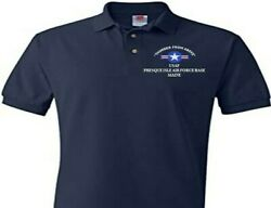 Presque Isle Air Force Base Maine Usaf Embroidered Polo Shirt/sweat/jacket.
