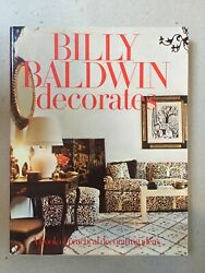 Billy Baldwin Decorates Signed First Edition 1972 Hardcover Rare