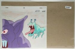 Ghostbusters Original Production Drawing And Cel 73-57 Used Cond.