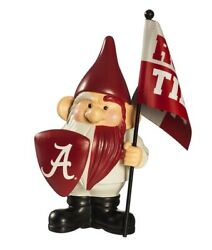 Alabama Crimson Tide Gnome With Flag Roll Tide University Collectible Gnomie