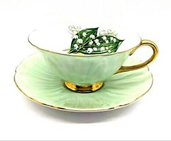 Shelley Oleander Lily Of The Valley Bone China Cup And Saucer Set Mint Antique
