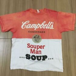 80s Campbell Andy Warhol Soup Can T-shirt Red X White