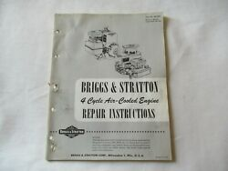 Briggs And Stratton 4-cycle Air Cooled Engine Repair Service Instruction Manual
