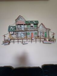 3d Metal Summer Boardwalk For Table Or Wall