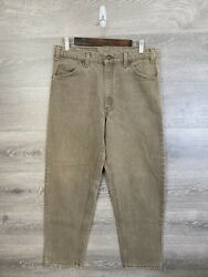 Vintage Usa Made Leviandrsquos 550 Relaxed Fit Orange Tab Straight Leg Jeans Taupe Mint