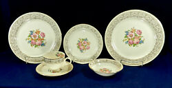 43-pieces Or Less Of Homer Laughlin Newell Pattern Nautilus 1940s China