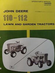 John Deere 110 112 Round Fender Garden Tractor And42 Blade Owner And Parts 3 Manual