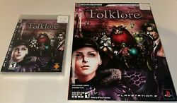 Folklore Ps3 Playstation 3 2007 [brand New Factory Sealed] Brady Guide Like New