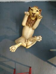 Mexican Paper Mache Lion Coffee Table By Sermel Tonala Style Of Sergio Bustamant
