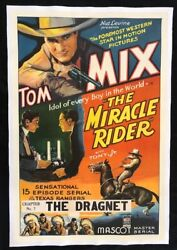 Tom Mix The Miracle Rider Original 1 Sheet Movie Poster 1935 On Linen Chapter 7