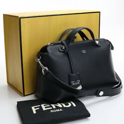 Pre-owned Fendi 8bl124 1d5 F0gxn By The Way 2way Shoulder Bag Black Leather F/s