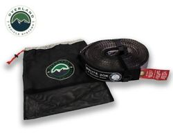 Ovs Tow Strap 20000 Lb 2 Inch X 30 Foot Gray With Black Ends And Storage Bag