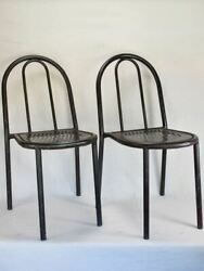 Pair Of 1970's Chairs Attributed To Tubor / Robert Mallet-stevens 1886-1945