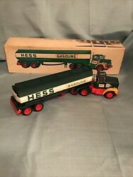 Excellent 1977 Hess Toy Tanker Truck In Original Box 14andrdquo Long