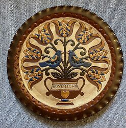 1994 Oley Valley Pottery Redware Plate - Gerald H. Yoder - Boyertown - 10/12