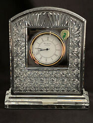 Waterford Society Ws Crystal Large Delaney Mantle Shelf Clock Le