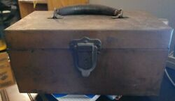 Vintage Kennedy Kits Tackle Box W/ Antique Lures Reels And More