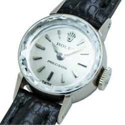 Rolex Precision Cut Glass 2604 K18wg Hand-wound Previously Owned No.1215