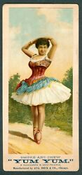 1888 Aug Beck Tobacco Sign Advertising N488 Cards In Packs Of Yum Yum Actress