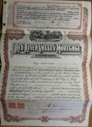 1923 Red River Valley Mortgage Company Real Estate Note Fargo Nd North Dakota