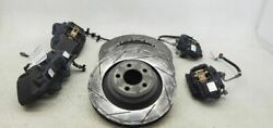 2017-2020 Dodge Charger Brembo Brakes Front Rear Black Calipers Rotors Lines