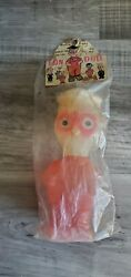 Vintage Antique Squeeze Toy Winking Eyes Fun Doll In Original Package Rare Owl