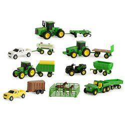 John Deere Toy Tractor Value Set Tractor And Farm Animal Toys Dm
