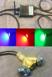 Drain Plug Underwater Led Boat Lights W/ Brass Y-adapter. Bluetooth Controller