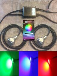Underwater Boat Lights, Two Led Drain Plug Lights, With Bluetooth Controller
