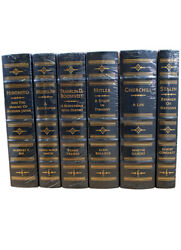 New Easton Press World War Ii Leaders Limited Edition Leather Bound 6v Set