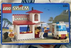 Vintage 1994 Original Lego 6350 Pizza To Go Restaurant And Delivery Truck - New