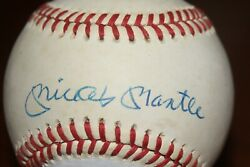 Mickey Mantle Autographed Baseball Available For Commission By Wayne Prokopiak