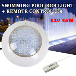 New Led Swimming Pool Light Color Change Bulb Ip68 Fixture W/ Remote Us Sale